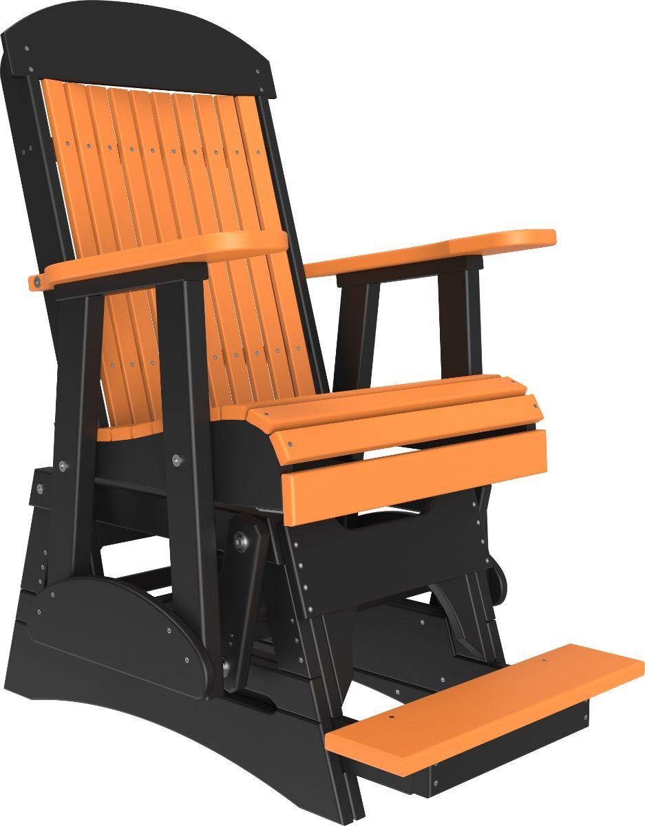 Tangerine and Black Stockton Balcony Glider