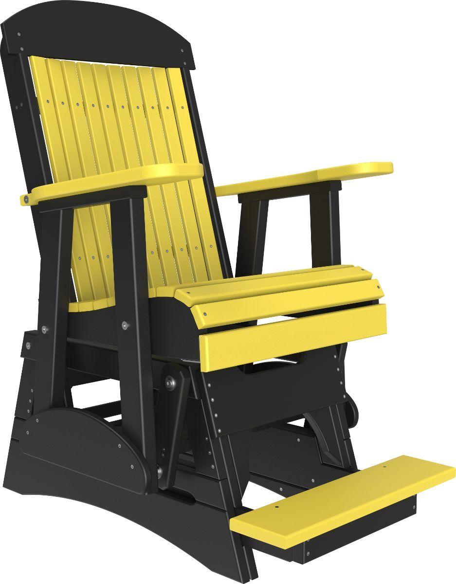 Yellow and Black Stockton Balcony Glider