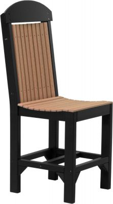 Antique Mahogany and Black Stockton Outdoor Bar Chair