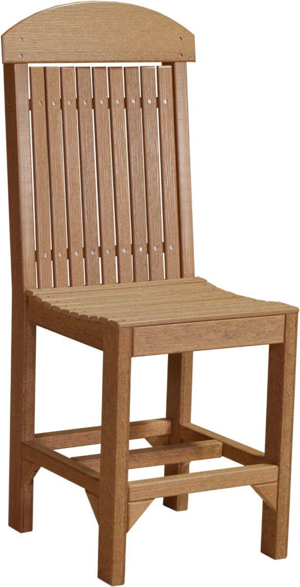 Antique Mahogany Stockton Outdoor Bar Chair