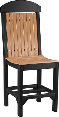 Cedar and Black Stockton Outdoor Bar Chair