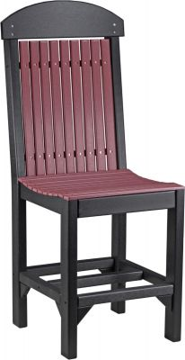 Cherrywood and Black Stockton Outdoor Bar Chair