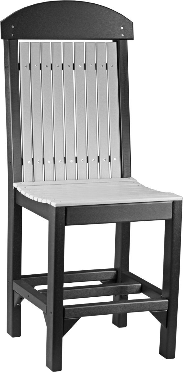 Dove Gray and Black Stockton Outdoor Bar Chair