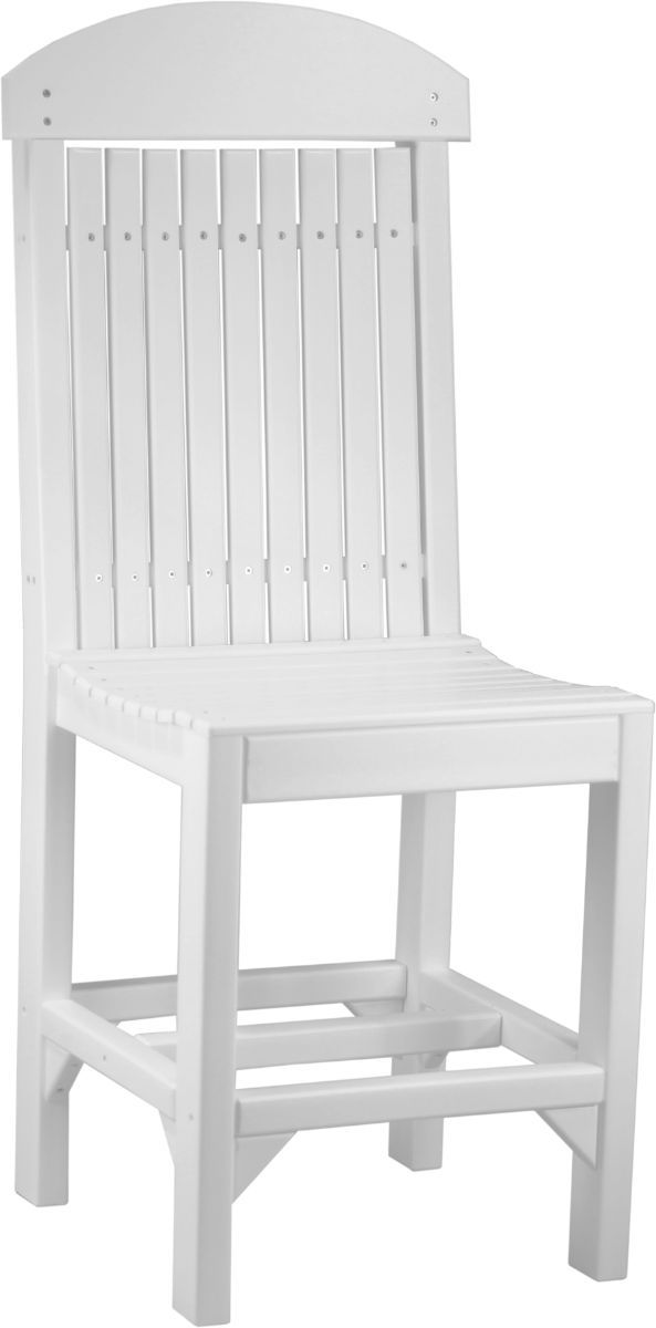 White Stockton Outdoor Bar Chair