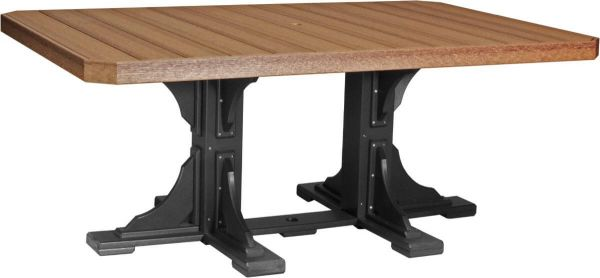 Antique Mahogany and Black Stockton Outdoor Dining Table