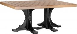 Cedar and Black Stockton Outdoor Dining Table