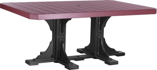 Cherrywood and Black Stockton Outdoor Dining Table