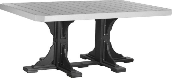 Dove Gray and Black Stockton Outdoor Dining Table