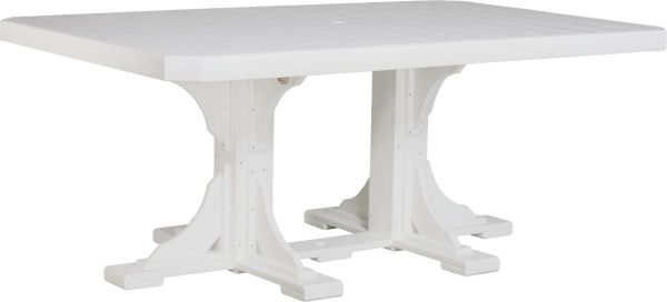 White Stockton Outdoor Dining Table