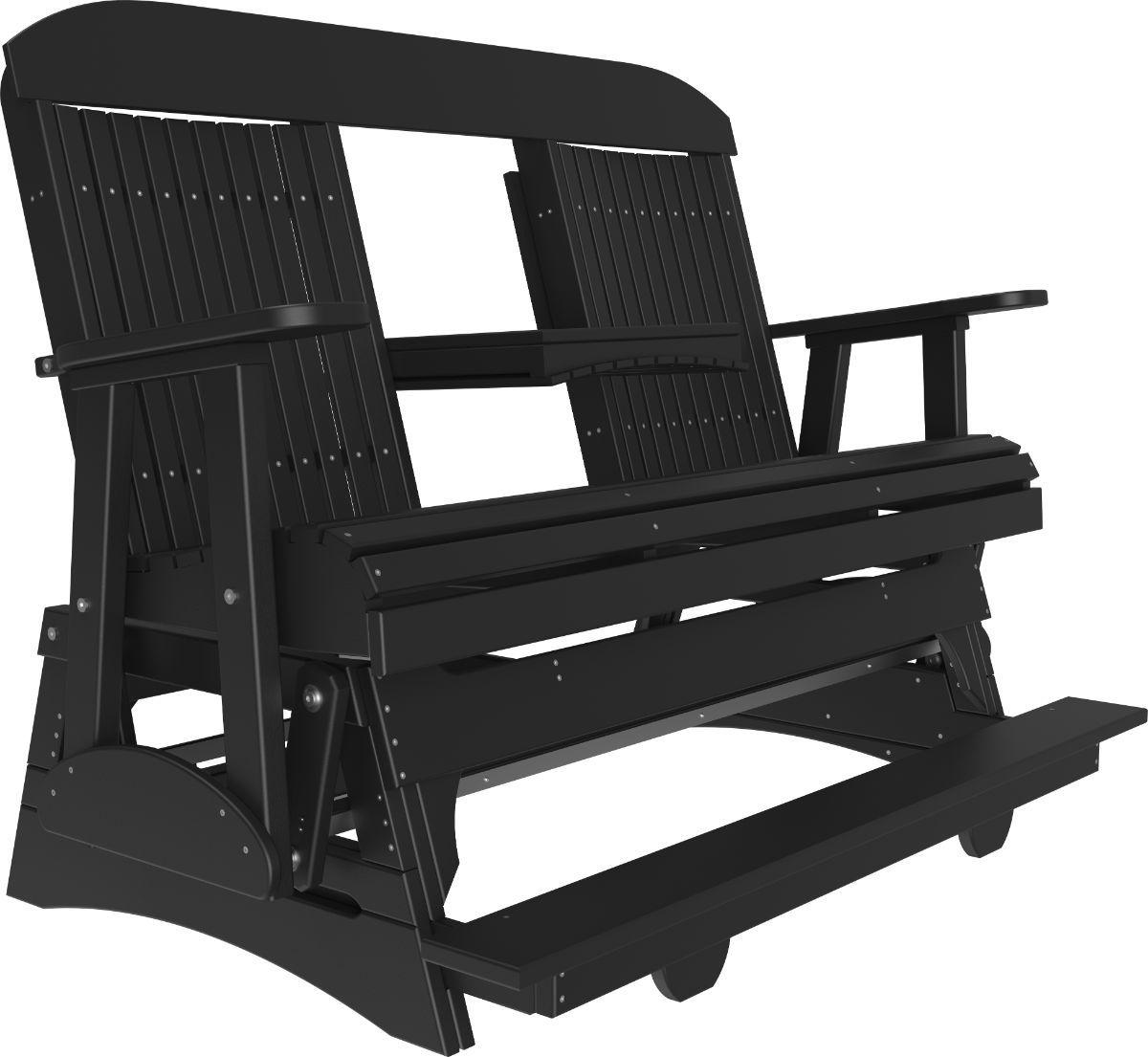 Black Stockton Loveseat Balcony Glider