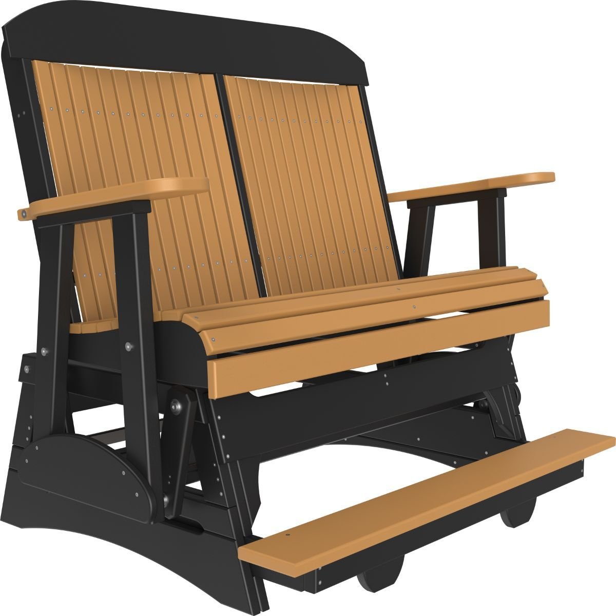 Cedar and Black Stockton Loveseat Balcony Glider
