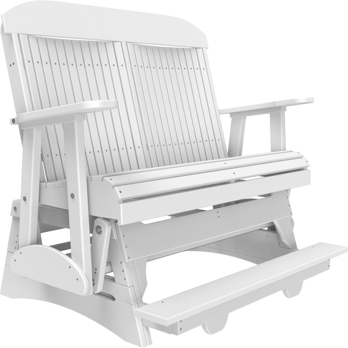 White Stockton Loveseat Balcony Glider