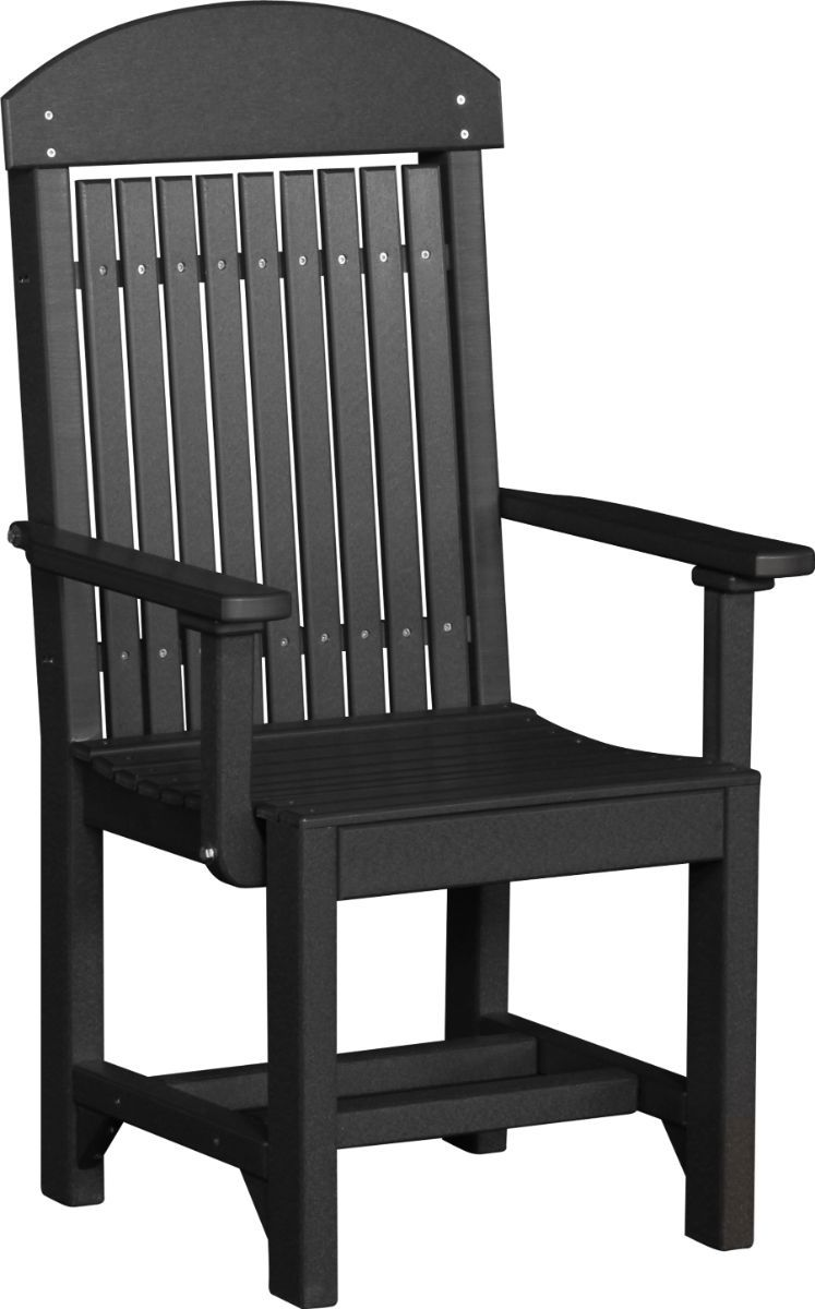 Black Stockton Outdoor Dining Arm Chair