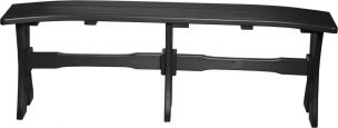 Large Black Stockton Outdoor Dining Bench