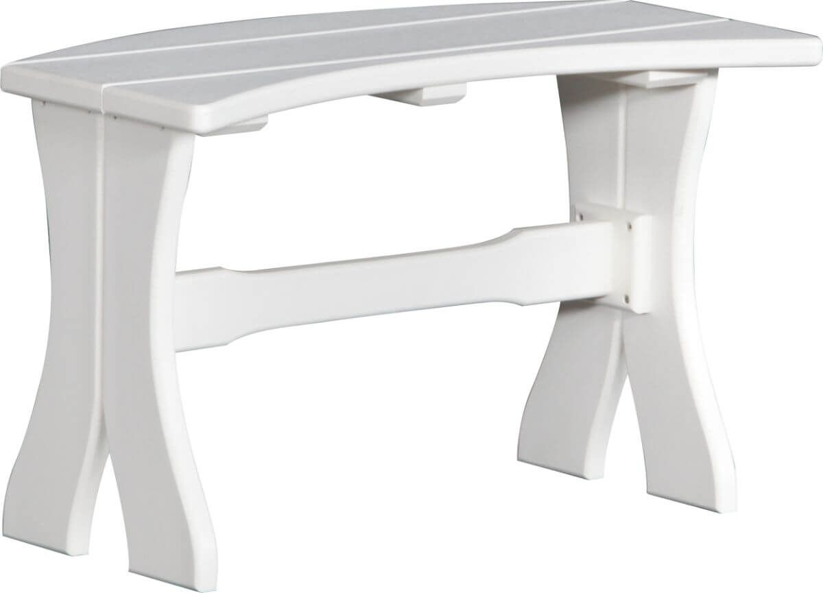 White Stockton Outdoor Dining Bench