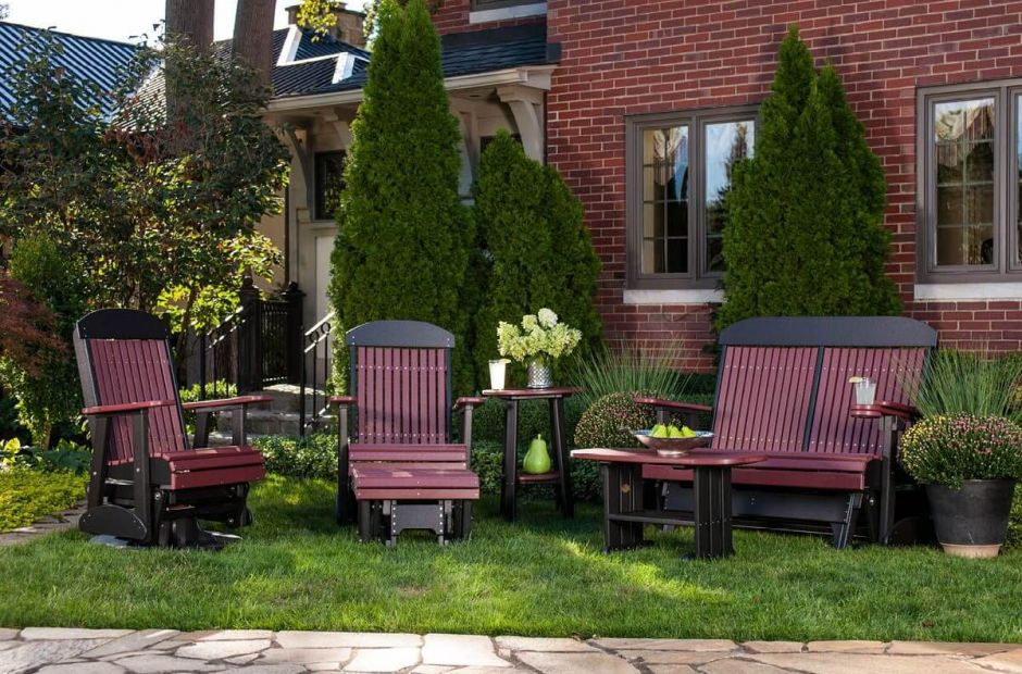 Stockton Outdoor Furniture Set Countryside Amish Furniture