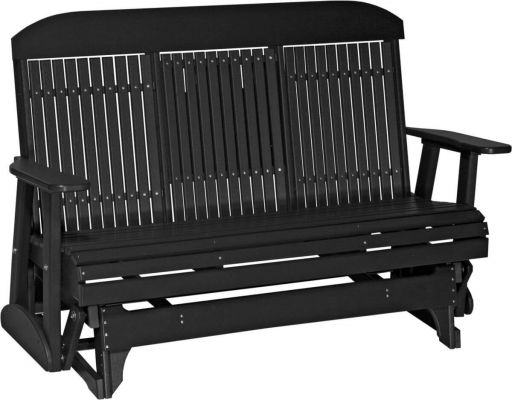 Black Larger Stockton Outdoor Glider Bench