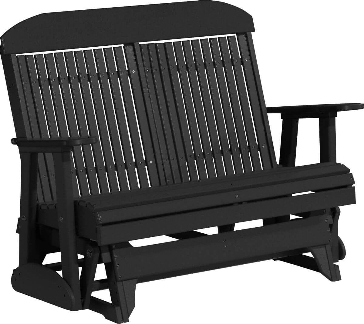 Black Stockton Outdoor Glider Bench