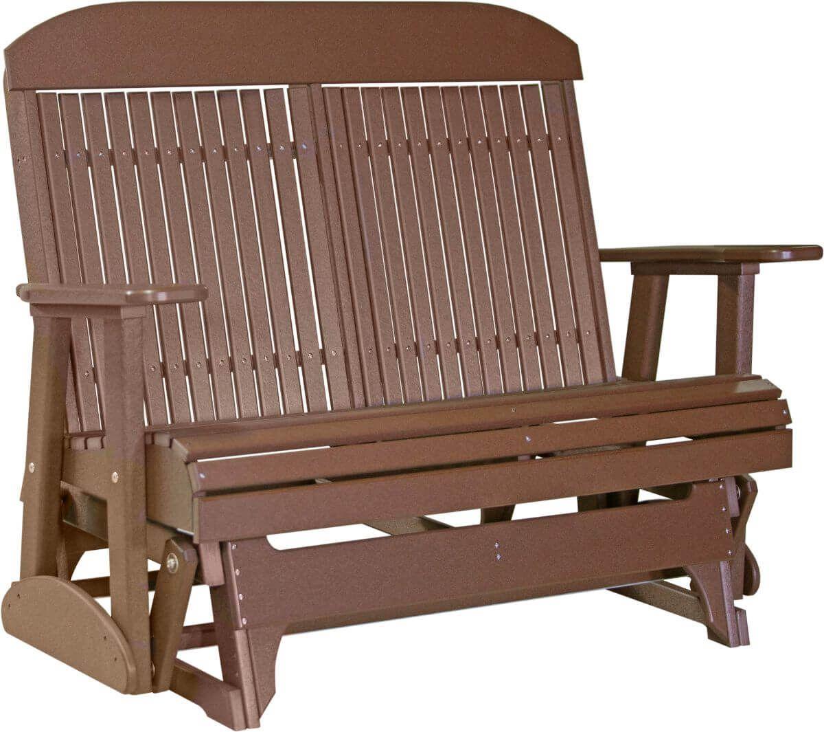 Chestnut Brown Stockton Outdoor Glider Bench