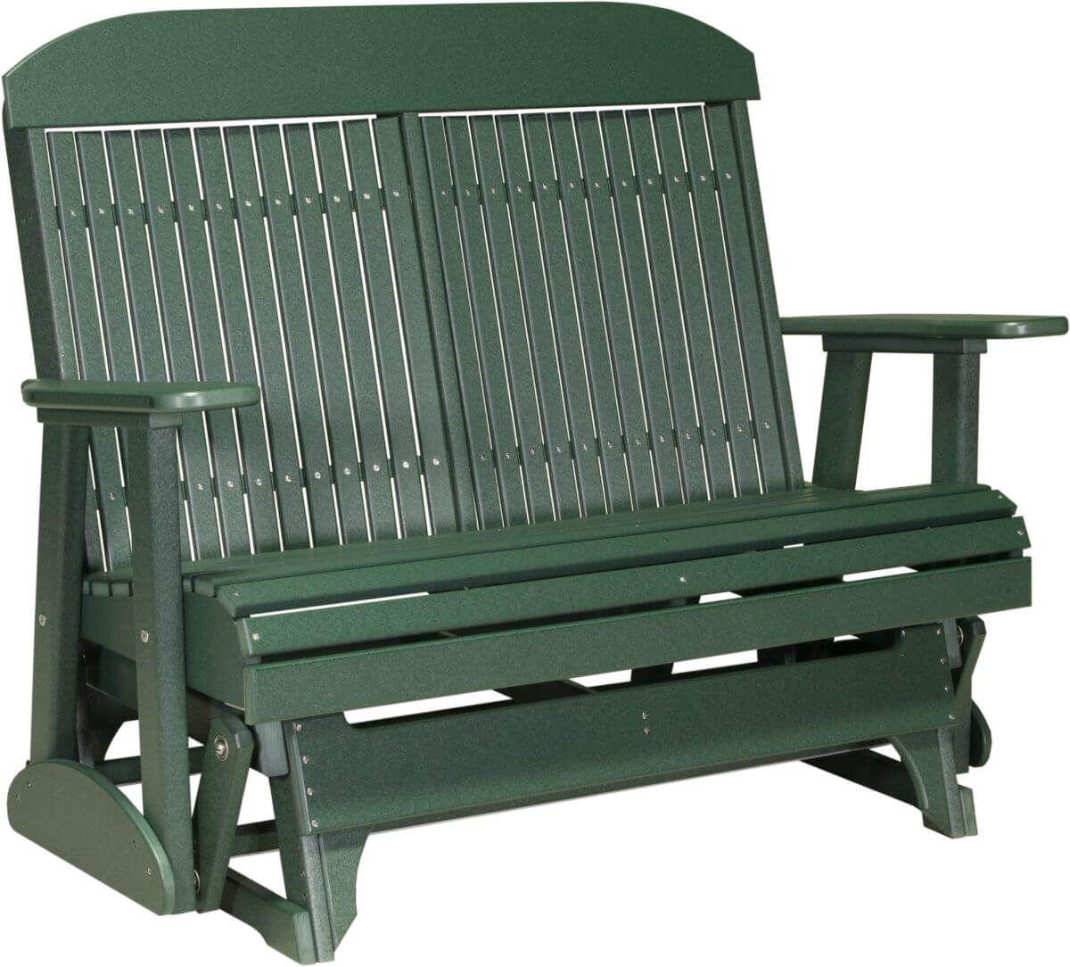 Green Stockton Outdoor Glider Bench
