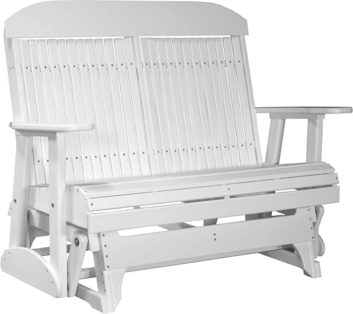 White Stockton Outdoor Glider Bench