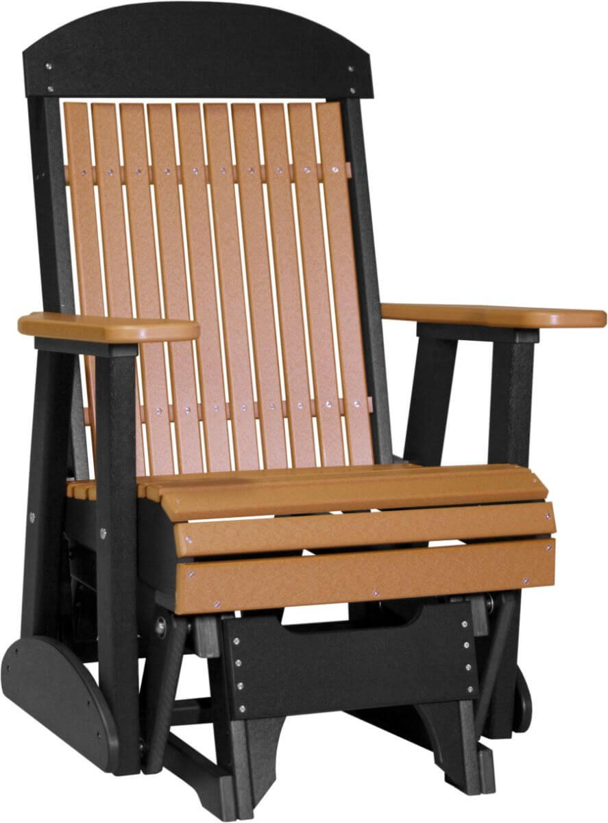 Cedar and Black Stockton Outdoor Glider