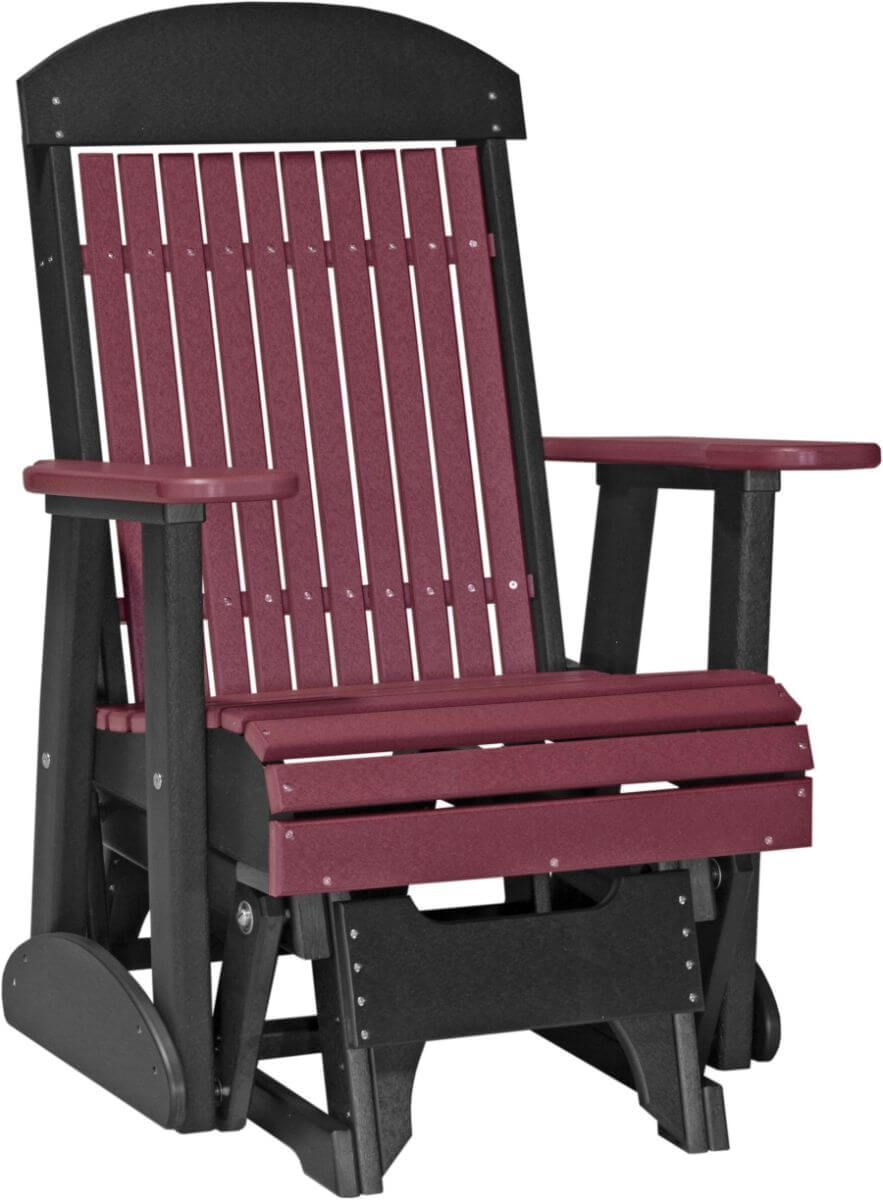 Cherrywood and Black Stockton Outdoor Glider