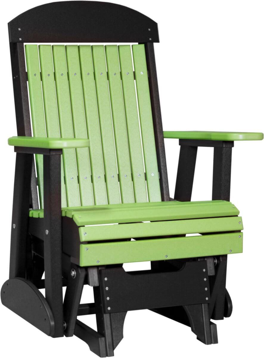 Lime Green and Black Stockton Outdoor Glider
