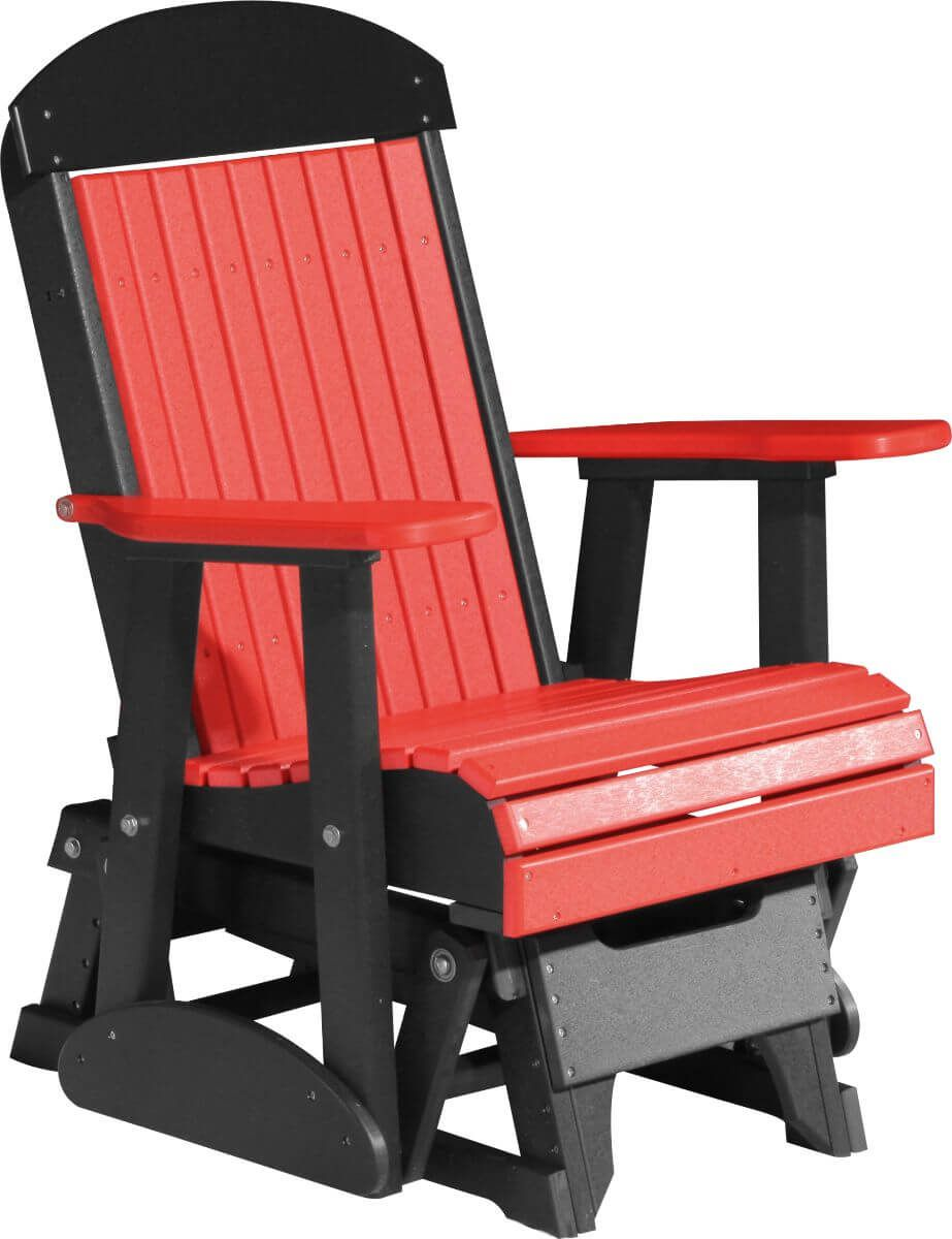 Red and Black Stockton Outdoor Glider