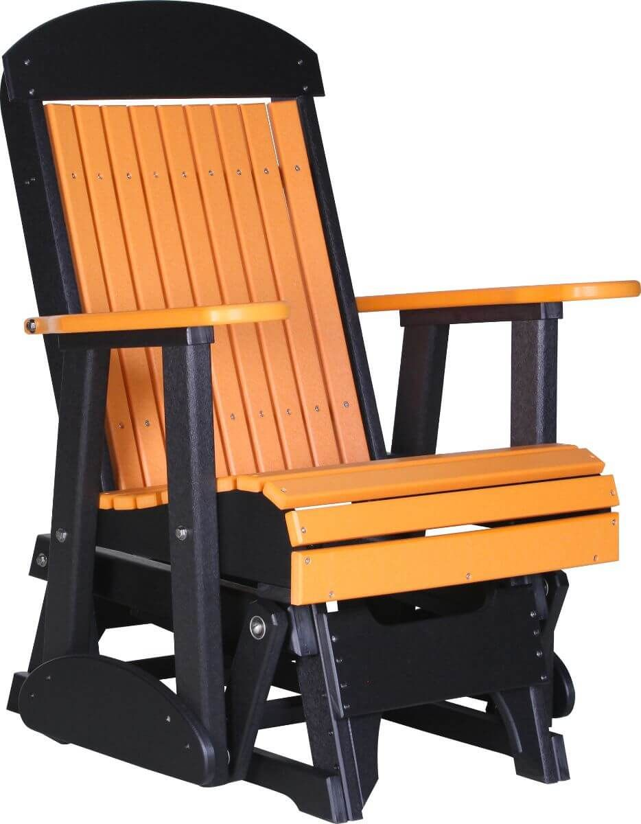 Tangerine and Black Stockton Outdoor Glider