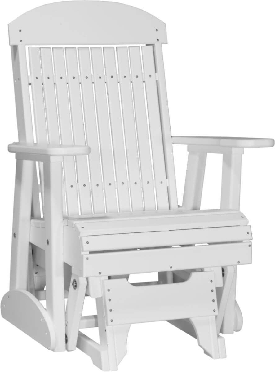 White Stockton Outdoor Glider