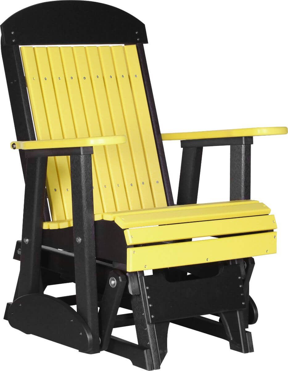 Yellow and Black Stockton Outdoor Glider