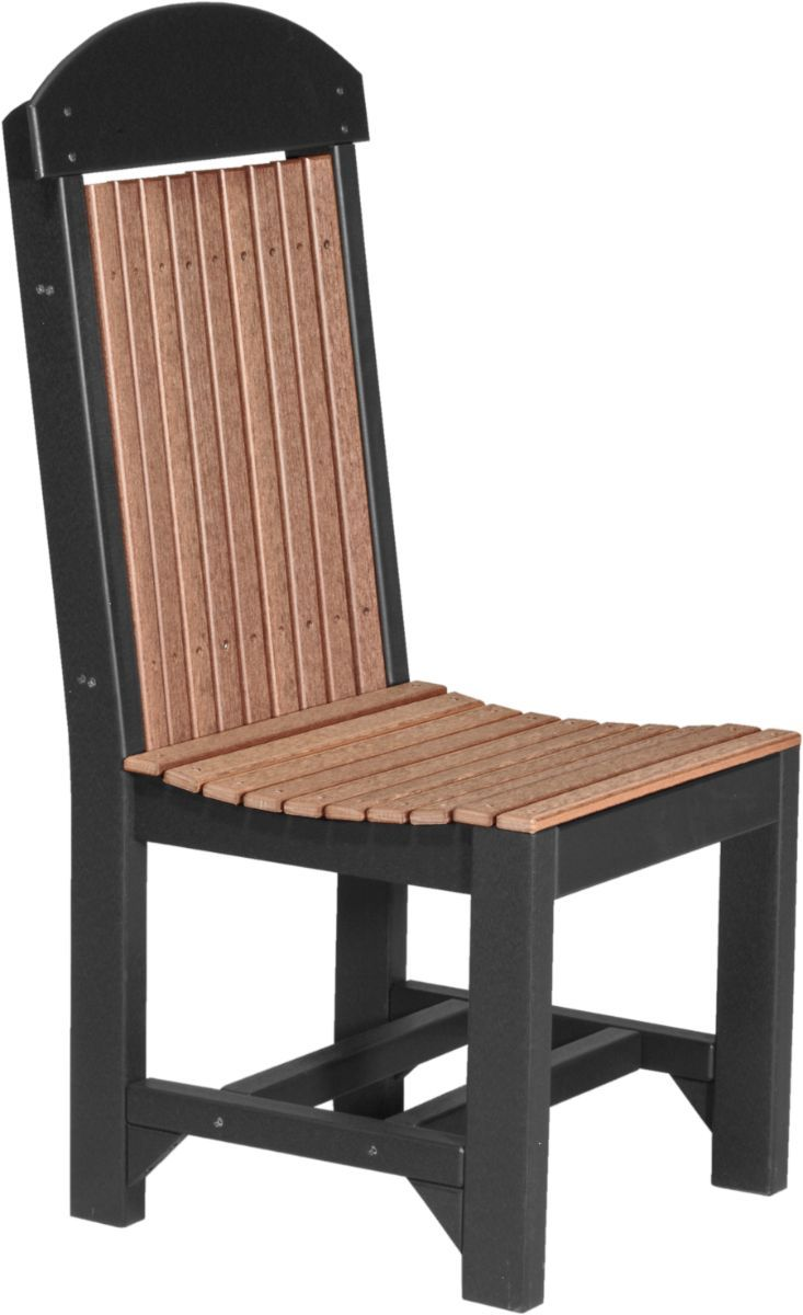 Antique Mahogany and Black Stockton Outdoor Dining Chair