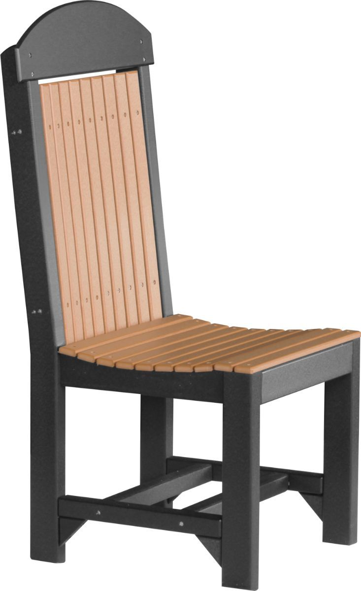 Cedar and Black Stockton Outdoor Dining Chair