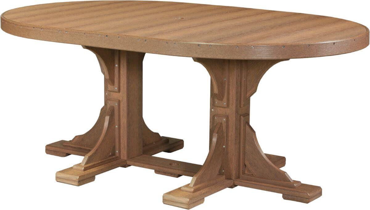 Antique Mahogany Stockton Outdoor Oval Dining Table