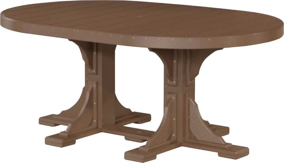 Chestnut Brown Stockton Outdoor Oval Dining Table