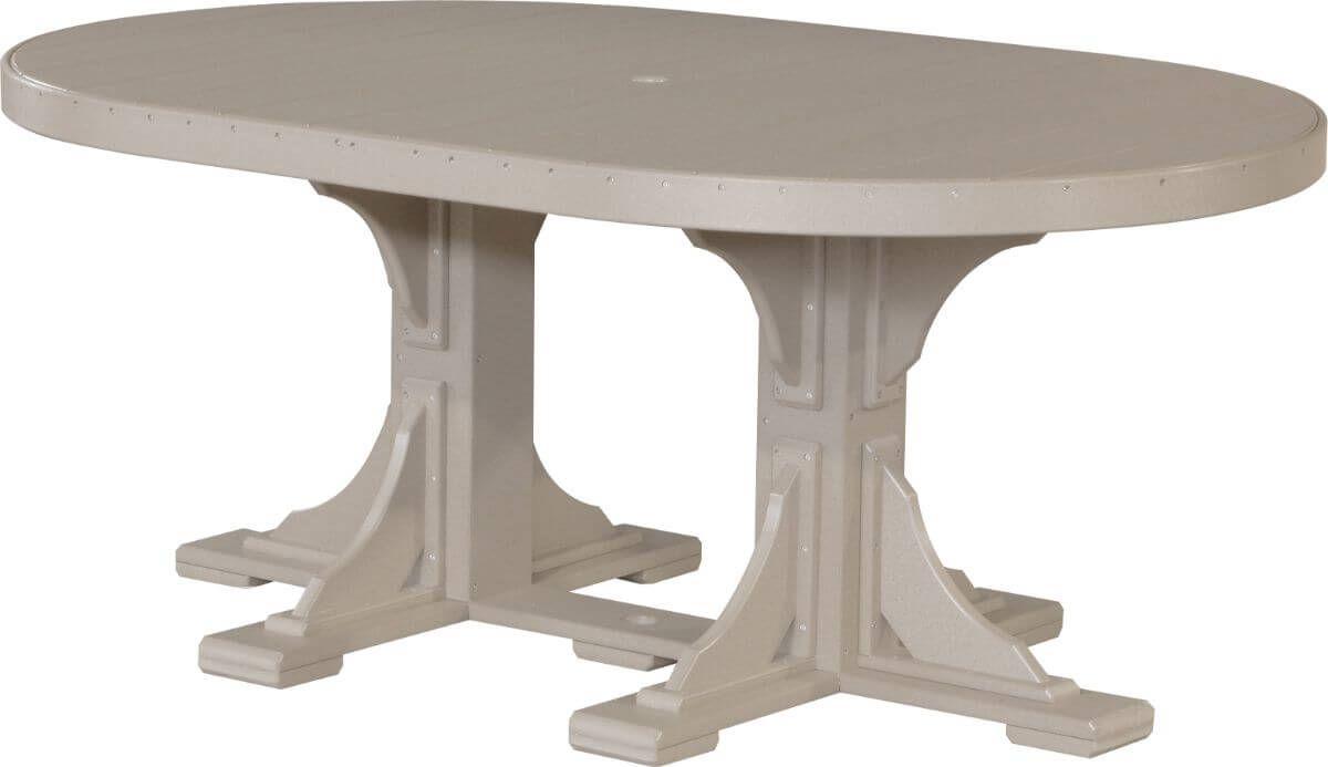 Weatherwood Stockton Outdoor Oval Dining Table