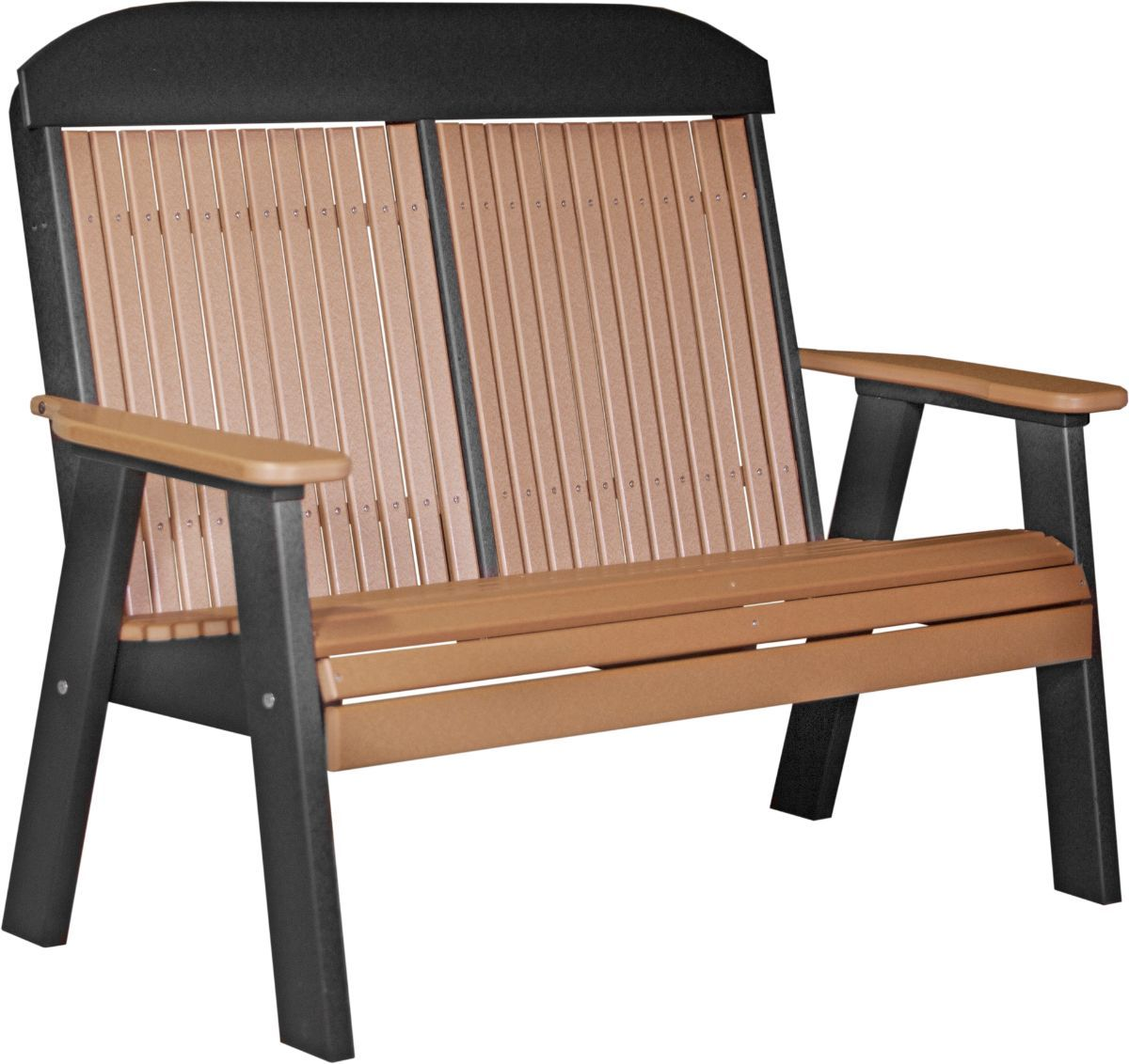 Cedar and Black Stockton Patio Bench