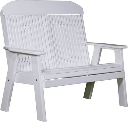 White Stockton Patio Bench