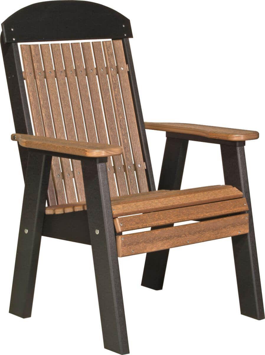 Antique Mahogany and Black Stockton Patio Chair