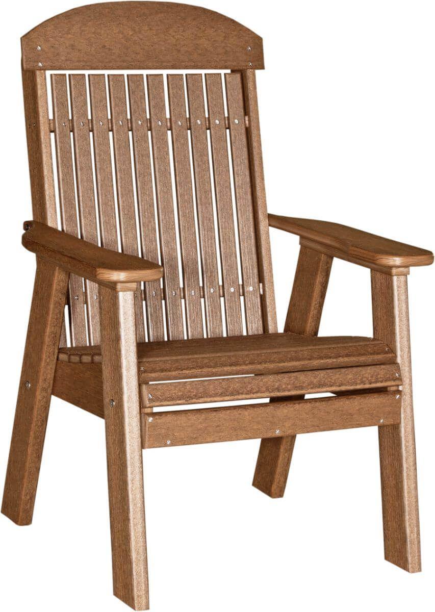 Antique Mahogany Stockton Patio Chair