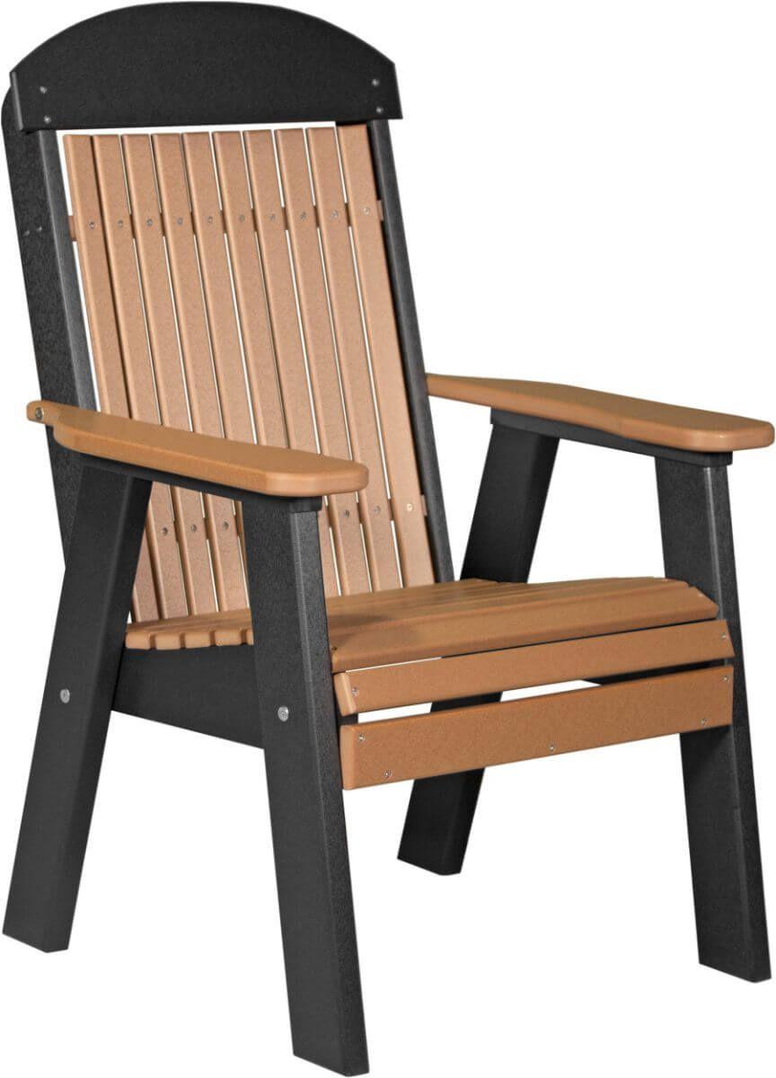 Cedar and Black Stockton Patio Chair