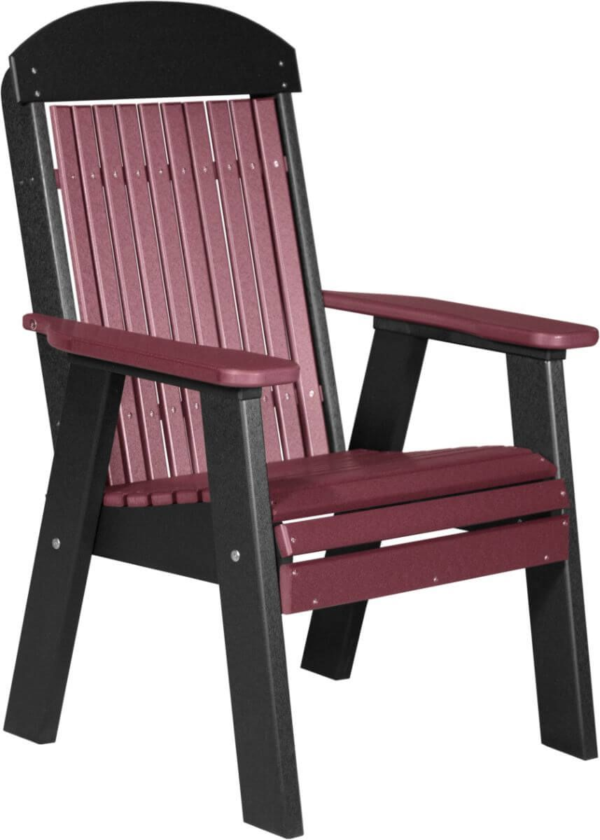 Cherrywood and Black Stockton Patio Chair