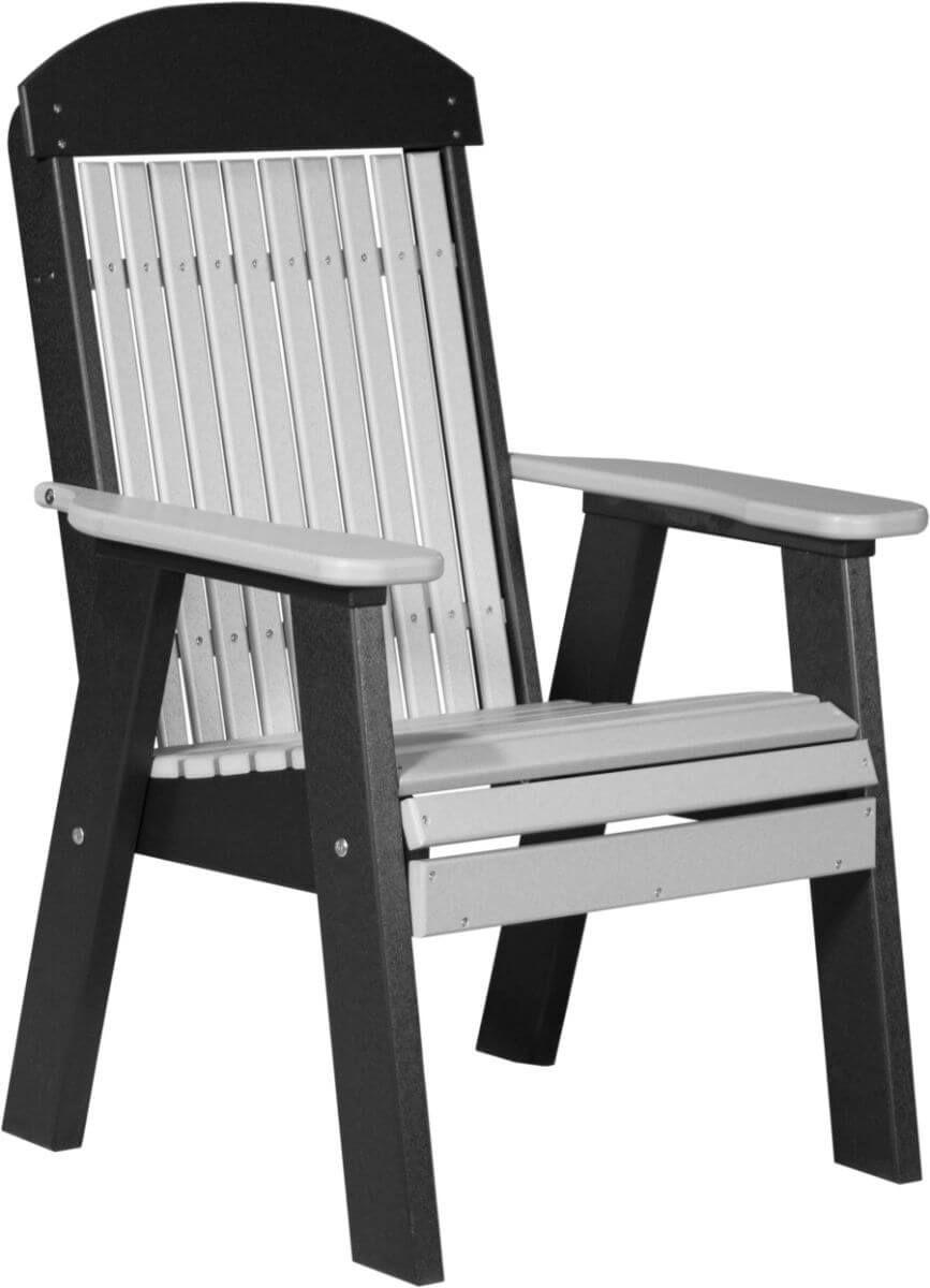 Dove Gray and Black Stockton Patio Chair