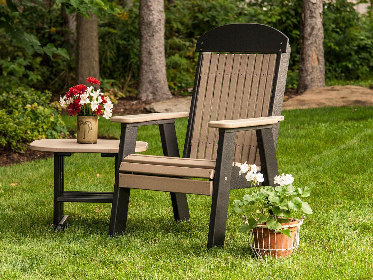Poly End Table and Stockton Patio Chair