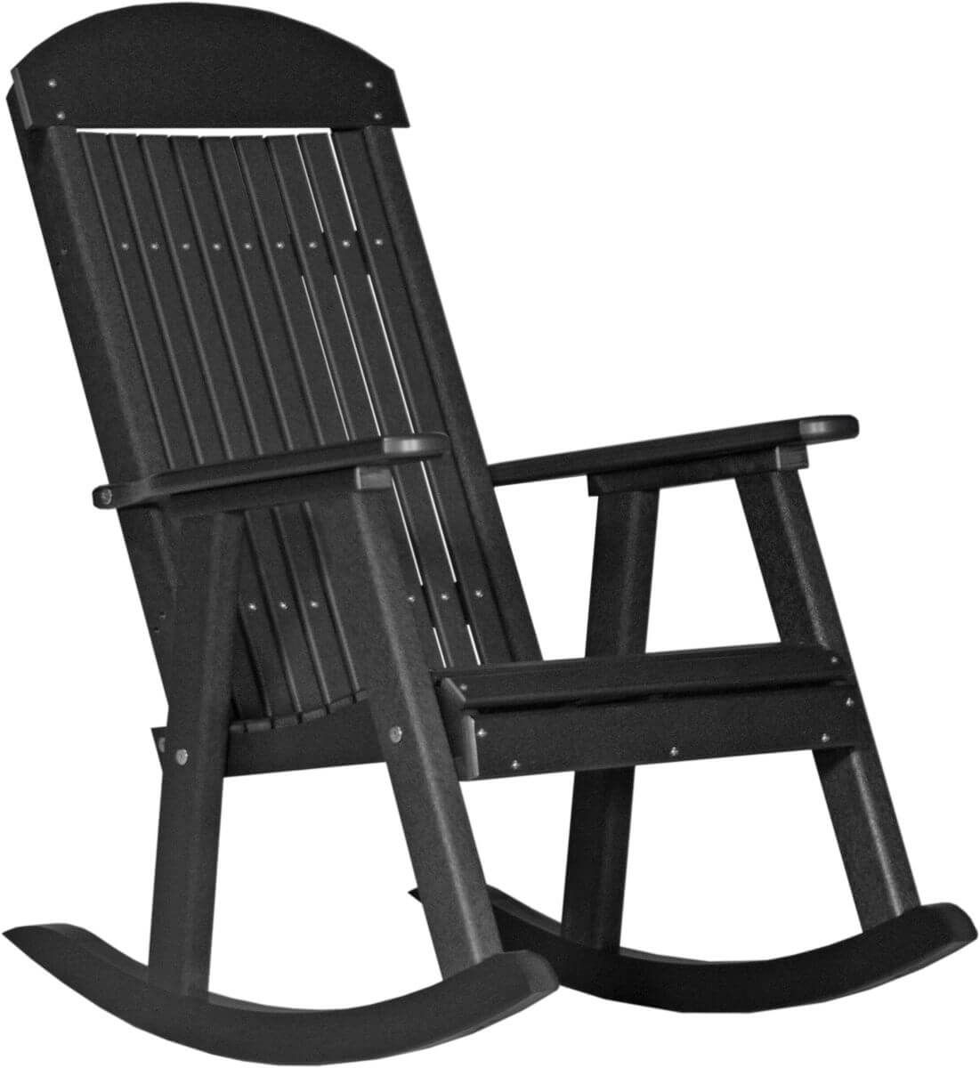 Black Stockton Porch Rocker