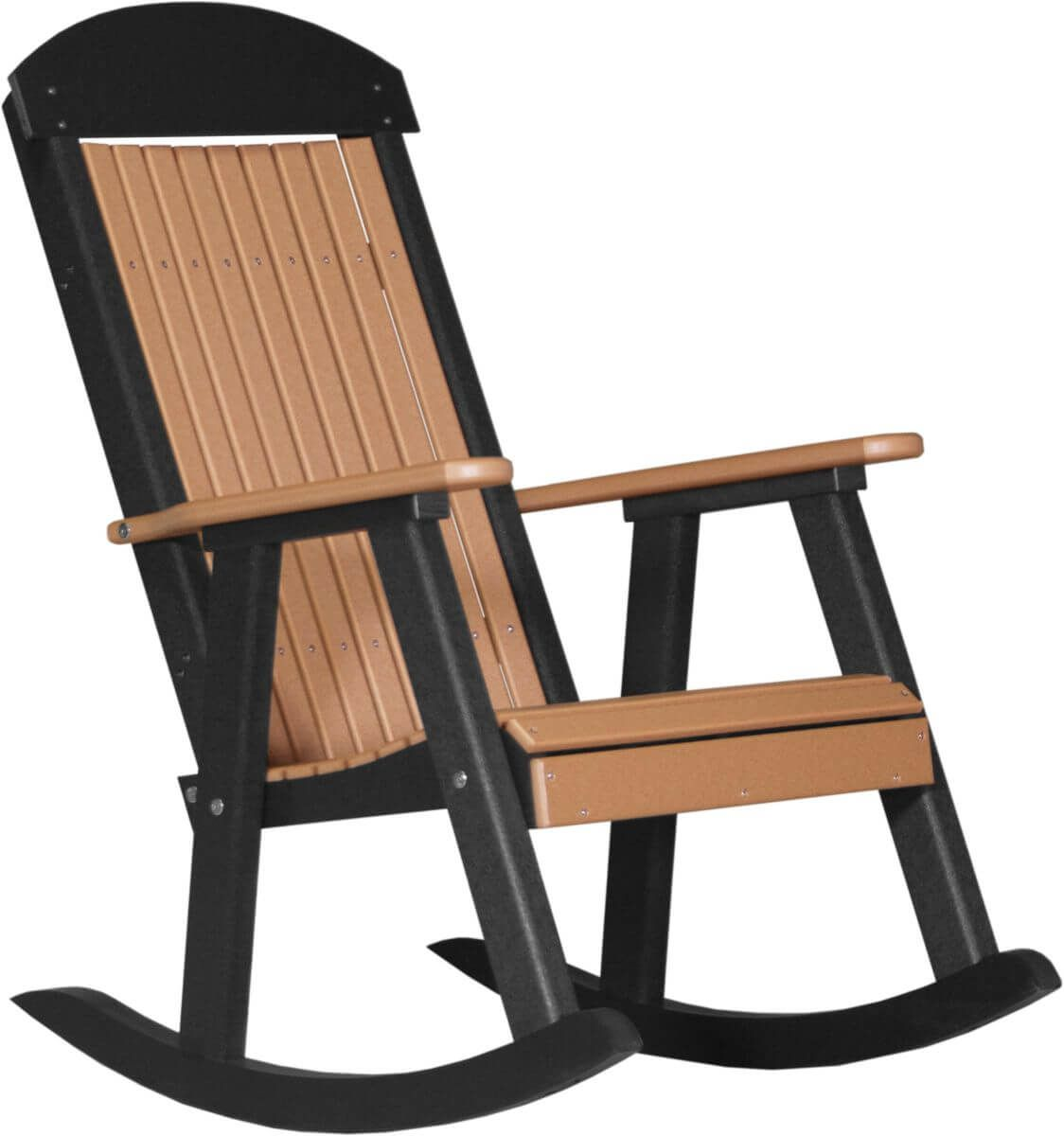 Cedar and Black Stockton Porch Rocker
