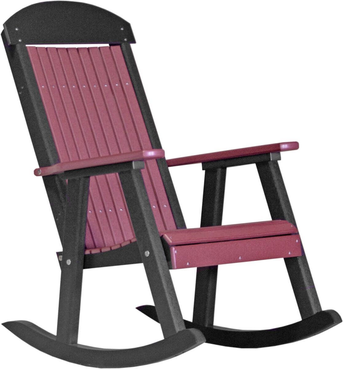Cherrywood and Black Stockton Porch Rocker