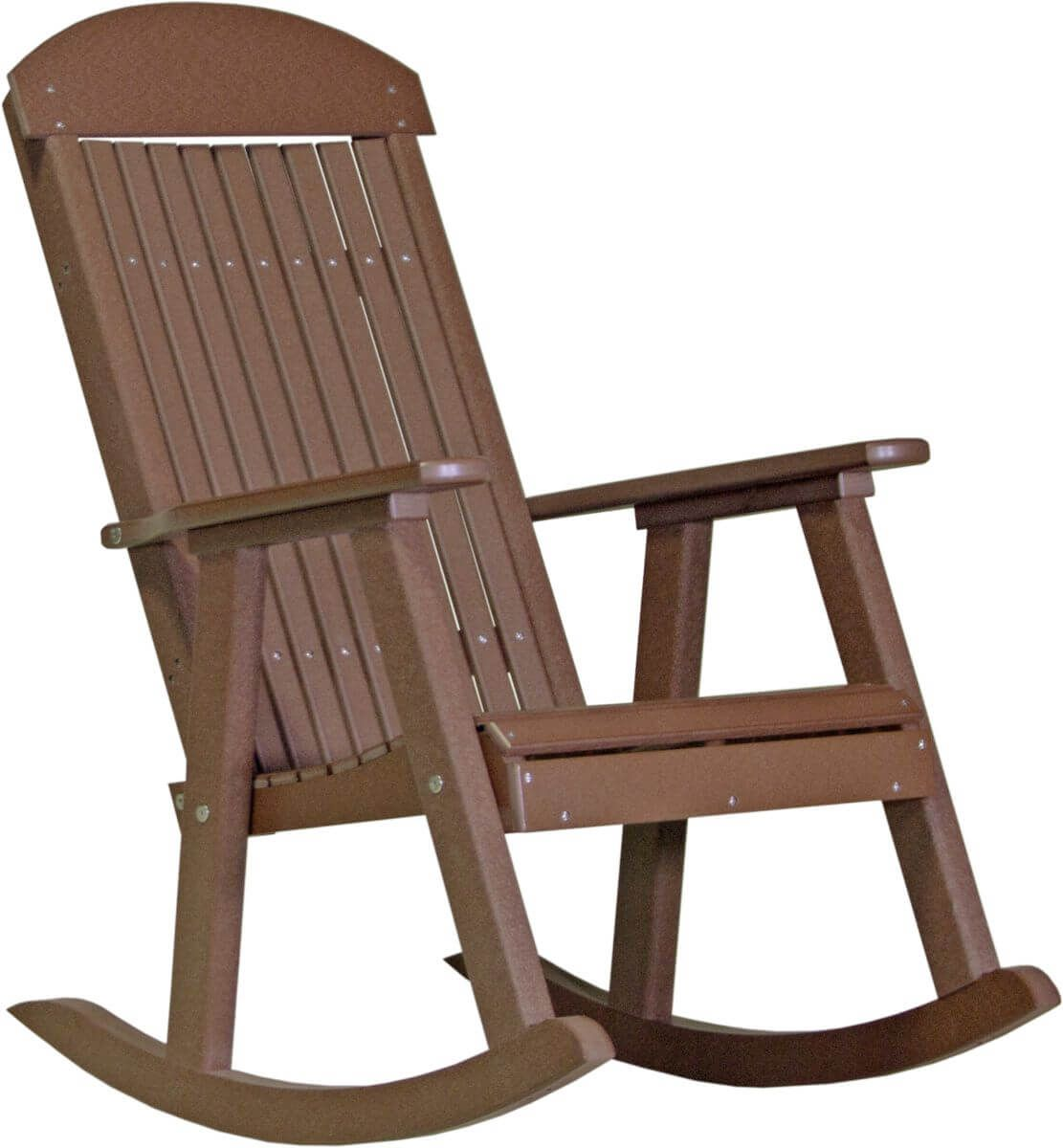 Chestnut Brown Stockton Porch Rocker