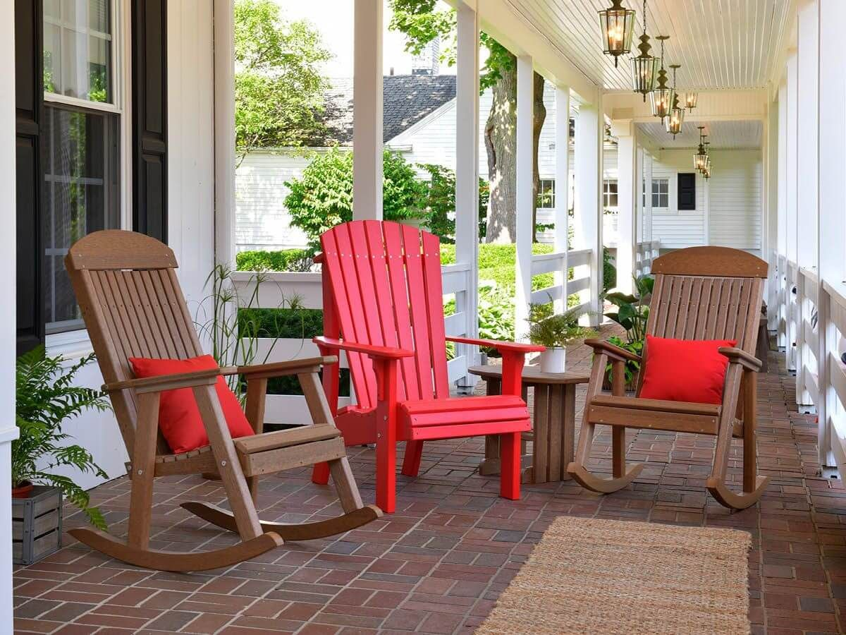 Stockton Porch Rocker and Rockaway Adirondack